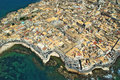 Island of syracuse aerial view Stock Image