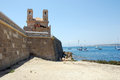 The island tabarca for spanish coast Royalty Free Stock Photos