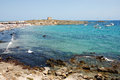 The island tabarca for spanish coast Royalty Free Stock Images