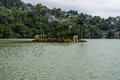 Island temple on the lake of kandy sri lanka Royalty Free Stock Photography