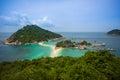 Island in thailand nang yuan surat thani Stock Image