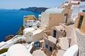 Island of Thera (Santorini) Cyclades, Greece. Royalty Free Stock Photo