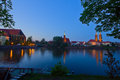 Island Tumsk, Wroclaw, Poland Royalty Free Stock Images