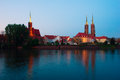 Island Tumsk, Wroclaw, Poland Stock Photo
