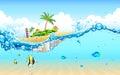 Island from Underwater