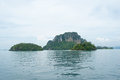 Island view tropical beach andaman sea krabi province thailand Royalty Free Stock Photography