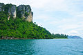 Island view tropical beach, andaman sea,Krabi Province Thailand Stock Image