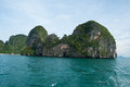 Island view tropical beach andaman sea krabi thailand province Royalty Free Stock Photos