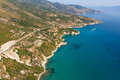 The island of Zakynthos Greece from the air Royalty Free Stock Photography