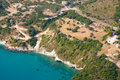 The island of Zakynthos Greece from the air Stock Image