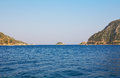 Islands in aegean sea turkey marmaris Royalty Free Stock Photo