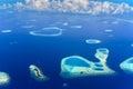 Islands in Baa Atoll, Indian Ocean Royalty Free Stock Photo