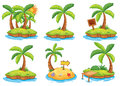 Islands with different signs illustration of the on a white background Stock Image