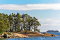 Islands in finland gulf Royalty Free Stock Photo