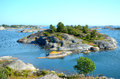 Islands in Stockholm archipelago Royalty Free Stock Photo
