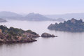 The islands on Victoria lake near Mwanza city, Tanzania Royalty Free Stock Photo