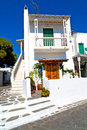 in the isle  greece antorini  color Royalty Free Stock Photo