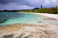 Isle of pines a beautiful sandy beach on new caledonia Stock Images