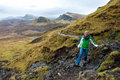 Isle of Skye Hiking Royalty Free Stock Image