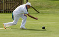 ISLE OF THORNS, SUSSEX/UK - SEPTEMBER 3 : Lawn bowls match at Is