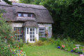 Isle of Wight thatched cottage Royalty Free Stock Photo