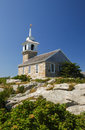 Isles of shoals a sunny day at the historic gosport chapel on star island on new hampshire s Stock Image