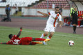 Ismaily of shakhtar donetsk gonçalves dos santos defender pictured in action during the friendly game between dinamo bucharest Stock Images