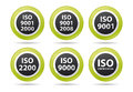 Iso icons Stock Image