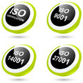 ISO Icons or Buttons Stock Photo
