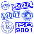 Iso stamps rubber stamp symbol illustrations Stock Photos