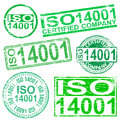Iso stamps rubber stamp symbol vector illustrations Stock Images