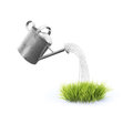 Isoalted watering can an isolated image with a Royalty Free Stock Images
