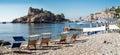 Isola bella beautiful island is a small island near taormina sicily Royalty Free Stock Photo