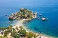 Isola Bella island in Taormina Royalty Free Stock Photo