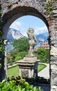 Isola bella on the lago maggiore in italy beautiful view small island Royalty Free Stock Photography