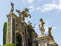 Isola bella on the lago maggiore in italy detail of sculptores of Stock Photography