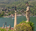 Isola bella on the lago maggiore in italy detail of sculptores of Stock Photos