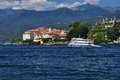Isola bella lago maggiore italy seen from the lake shore the blue waters of the northern italian lake Stock Images