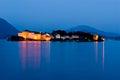 Isola Bella at night, Lago Maggiore, Italy Royalty Free Stock Photo