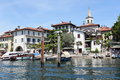 Isola dei pescatori on lake maggiore beautiful fishing village island near milan italy Stock Photo