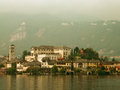 Isola san giulio italy old benedictine monastery on Royalty Free Stock Photos
