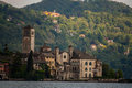 Isola san giulio a view of the island on lake orta Stock Photo