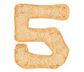 Isolate Bread Number Royalty Free Stock Photo