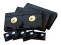 Isolate cassette VHS and Mini DV. Royalty Free Stock Photo