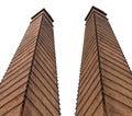 Isolate old brick chimney. Royalty Free Stock Photo