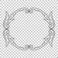 Isolate ornament in baroque style