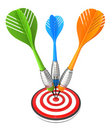 Isolated 3D darts Stock Photography
