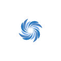 Isolated abstract blue color spining spiral logo. Swirl logotype. Water icon. Vortex sign. Liquid symbol. Conditioning