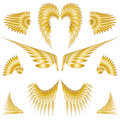 Isolated Angel Wings Royalty Free Stock Photo