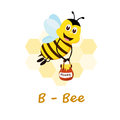 Isolated animal alphabet for the kids,B for Bee